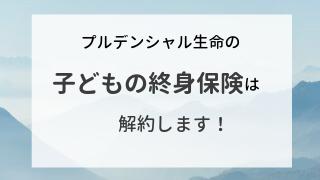 プルデンシャル生命子どもの終身保険アイキャッチ